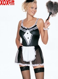 French Maid Outfit Sexy Adult Costume LA 8964