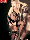 Hot Teddiette With Thong Back & Stockings  R-96015