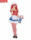 Sexy Rag Doll Five Piece Womens Costume 7318