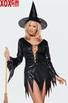 Sequin Witch Dress & Hat Costume LA 8929