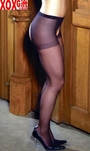 Womens Sheer Crotchless Pantyhose EM 1726