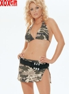 Camouflage Halter Top, Skirt & Ammo Belt LA 8954