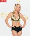 Women's Bumble Bee Sexy Adult Costume 4 Piece Set!  LA 8677