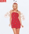 3 Pc Sexy Lady Bug Slinky Tube Dress LA 8687