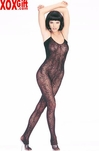 V Back Spider Web Bodystocking LA 8353