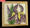 Iris Hand Painted Decorative Tile Iris