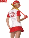 Womens Homerun Hitter Costume LA 83130