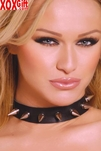 Leather Choker With Spikes. EM L9623