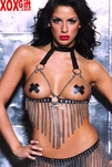 Leather & Chains Open Bust Bustier Bra AL 5-303