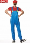 Men's Mario The Plumber From Donkey Kong Costume LA 83120