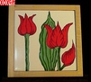 Tulip Hand Painted Decorative Tile Tulip