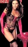 Hot Lace Bustier, Panty & Stockings R-96864