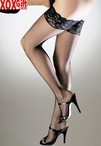 "Plus Size Fishnet Thigh High With 3"" Stretch Lace Top LA 9023Q"