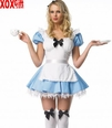 Womens Blue Alice Apron Costume LA 83086
