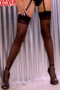 Plus Size Sheer Nylon Thigh High Stockings LA 1001Q