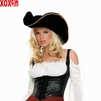Buccaneer Pirate Hat With Gold Trim LA 2078