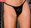 Vinyl g-string With ring EM V9584