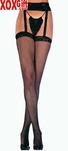 Fishnet Thigh High Stockings With Attached Lace Garter Belt EM 1656