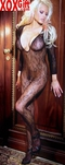 Womens Open Crotch Deep V Bodystocking EM 1619