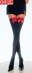 Plus Size Opaque Thigh High Stockings With Satin Bows EM 6255Q