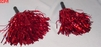 Pair Red Metallic Foil Cheerleader Pom Poms OT3-260