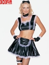 5 Pc Wet Look French Maid Outfit LA 8014