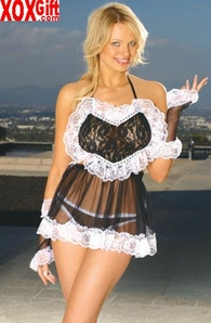 French Maid outfit With gloves & matching panty EM 9926