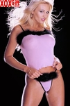 Sheer Stretch Mesh Camisole & Thong Panty 2 Pc Set With Marabou Feather Trim R 6829