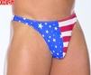 Mens stars & stripes thong EM 4801