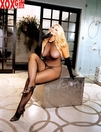 Plus Size Fishnet Lace Top Halter Crotchless Bodystocking X90001