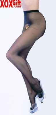 Plus Size Sheer Crotchless Pantyhose EM 1905Q