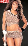 Jungle Leopard Cavewomen Girl Costume  R 6835
