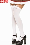 Plus Size Opaque Thigh High Stockings With Satin Bow LA 6255Q