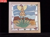 Yucca Moon Hand Painted Decorative Tile Yucca-Full-Moon