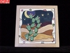 Prickly Pear Cactus Hand Painted Decorative Tile Prickly-Pear-Moon