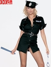 Policewoman Costume! Sexy Black Swat Team 5 Pc Set LA 8856