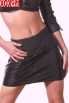 Black Leather Mini Skirt AL 13-110