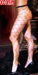 Womens Seamless Diamond Net Pantyhose EM 1736