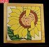 Sunflowers Hand Painted Decorative Tile Sunflower