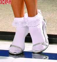 Nylon anklets With ruffle & satin bow EM 3029