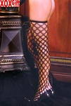Plus Size Womens Crochet Thigh Highs EM 1709Q