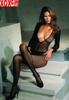 Deep V cut fishnet body stocking EM 8378