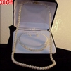 Pearl Necklace, Earrings & Bracelet 3 Pc Boxed Set J260140