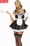Plus Size Womens Sexy French Maid Costume LA 8048X