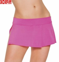 Lycra Spandex Micro Mini Skirt With Side Slit & Pleats LA 2983