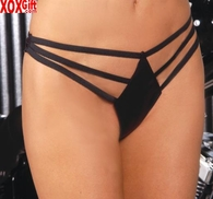 Leather thong With 3 straps EM L9192