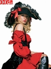 Women's Black Swashbuckler Hat LA 2098