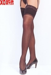 Sheer Lace Top Stockings For Use With Garters 6561