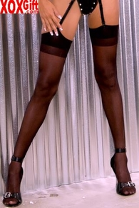 Sheer Nylon Thigh High Stockings  LA 1001