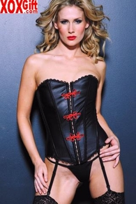 Leather Corset With Frogs AL 11-706